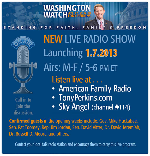 Washington Watch with Tony Perkins Daily Radio Show