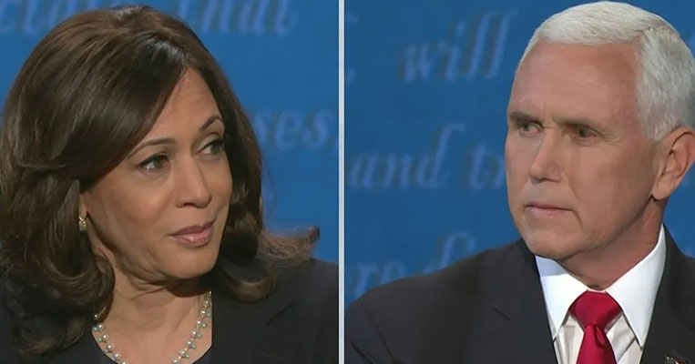 Harris Dodges Questions, Pence Answers on the Fly